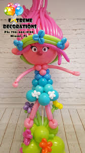 party supplies miami trolls theme poppy balloon sculpture trolls birthday party ideas