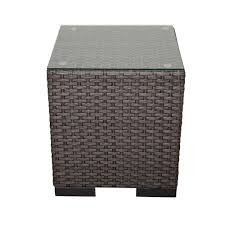 Patio Side Tables Metal Outdoor Side Tables Patio Tables The Home Depot
