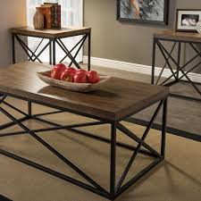 Set Table by Linon Home Decor Tray Table Set Faux Marble In Brown 43001tilset