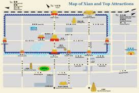 map of xi an map of xi an and top attractions xi an travel guide