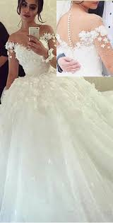 fantastic tulle sheer jewel neckline ball gown wedding dresses