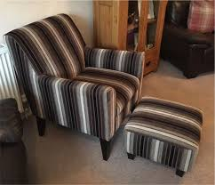 Oslo Armchair Next Oslo Brown Stripe Chair Armchair And Matching Footstool