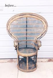 How To Fix Wicker Patio Furniture - peacock chair makeover camille styles