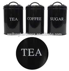 metal kitchen canisters tea coffee sugar black canister canisters printed metal kitchen