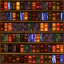 Bookshelf Background Image A Seamless Book Shelf Pattern With Rows Of Colorful Bound Books