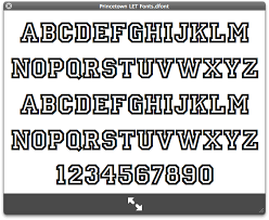 fonts on mac os x