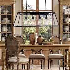 rectangular light fixtures for dining rooms loft pendant l retro american industrial black iron rectangular