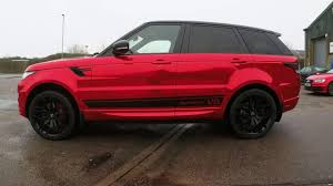 land rover chrome range rover sport autobiography car wrap in red chrome youtube