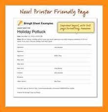 9 breakfast potluck signup sheet abstract sample
