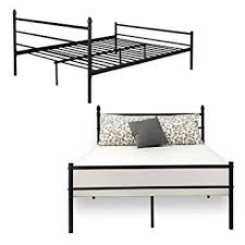 Bedframe With Headboard Reinforced Metal Bed Frame Size Vecelo Platform