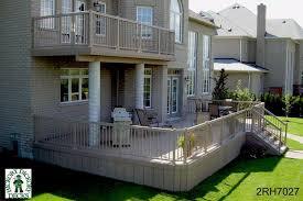 deck building second story house plans 50115
