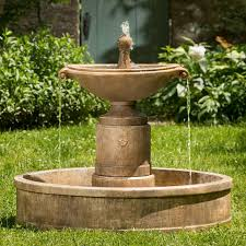 l with water fountain base cast stone fountains shop cast stone water features