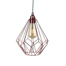 wire geometric ceiling light fitting