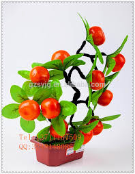 Fruit Decoration For New Year by Fancy Design Artificial Fruit Tree Fake Cherry Bonsai