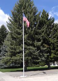 Christmas Tree Shop Flagpole by Heavy Duty Polyester American Flag