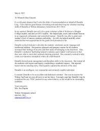 danielle u0027s recommendation letter