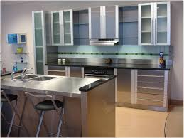 Kitchen Cabinets Handles Stainless Steel Kitchen Wonderful Stainless Steel Kitchen Cabinets Stainless