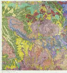 Salida Colorado Map by Montrose Co 1x2 Geologic Map Colored Maplets