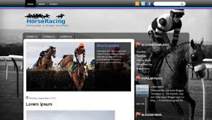 horseracing blogger template free download xml blogger themes