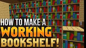 Minecraft Bookshelf Placement Minecraft Tutorial How To Make A Working Bookcase Vanilla