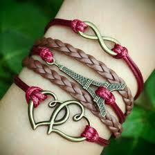 diy bracelet with charm images Bracelet infinity eiffel tower heart to heart charm bracelet jpg
