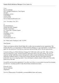 public relations cover letter best public relations cover letter