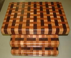 weave design end grain butcher block