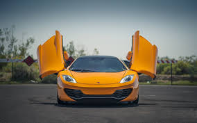 orange mclaren mclaren mp4 12c orange mclaren orange front of the door hd wallpaper