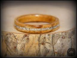 buy wood rings images Bentwood bethlehem olive wood wedding rings silver glass inlay jpg