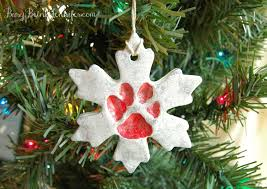 pet paw print snowflake ornament busy being