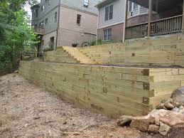 Retaining Wall Design Ideas by Genial Wood Retaining Wall Design And Wood Retaining Wall Design