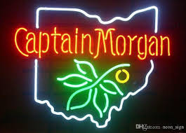 ohio state neon light 2018 captain morgan ohio state buckeye spiced rum neon sign beer bar