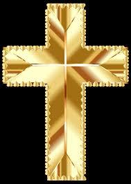 clipart golden cross love