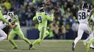 seahawks light up sign seahawks embarrass rams with fake punt punter then gets lit up