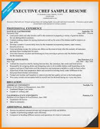 Example Of Cook Resume by 8 Executive Chef Resume Character Refence