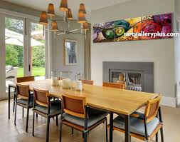 Dining Room Wall Art 3 Piece Large Canvas Panoramic Decor Colorful Artwork Abstract
