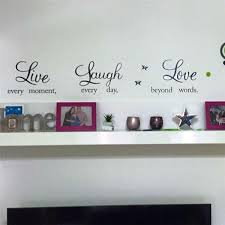 awesome idea live laugh wall also quotes sticker general