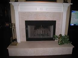 Travertine Fireplace Hearth - ideas beautiful travertine tile fireplace pictures change the