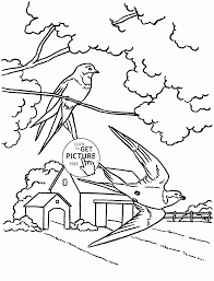 martlet bird coloring page for kids spring coloring pages