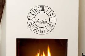 families are forever clock decal home decor vinyl wall decals families are forever clock decal home decor vinyl wall decals wall clock roman numerals family wall decal wall decor family quote