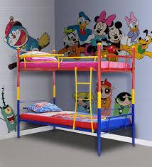 Buy Barcelona Kids Bunk Bed In Multicolour By FurnitureKraft - Kids bunk beds furniture