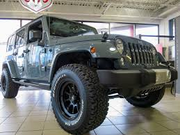 grey jeep rubicon lifted big 4 motors ltd new chrysler jeep dodge ram dealership in