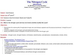 the nitrogen cycle 8th 9th grade lesson plan lesson planet