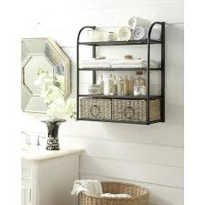 Wall Storage Bathroom 4d Concepts 24 In W Storage Rack With Two Baskets In