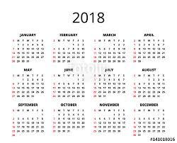 Calendar 2018 Ai Template 2018 Year Calendar Horizontal Album Orientation Vector Template
