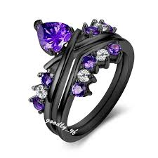 black and purple engagement rings popular engagement rings settings buy cheap