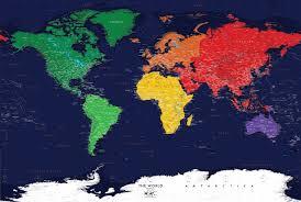 world map mural wall murals dark oceans world political map wall mural miller projection