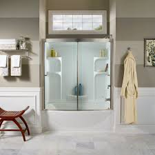 three piece bathtub tub shower walls american standard