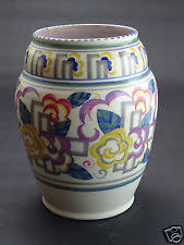 Poole Pottery Vase Patterns Vases 1920 1939 Art Deco Poole Pottery Ebay
