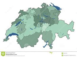 World Map With Lakes by Map Of Switzerland With Lakes Royalty Free Stock Photos Image